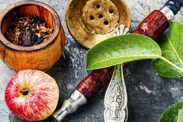 Oriental smoking hookah - Stock Photo - Images