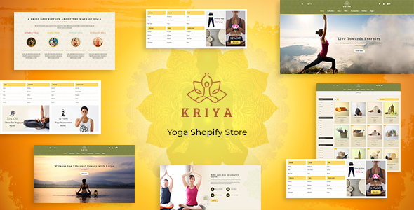Kriya - Pilates, Yoga Shopify Theme