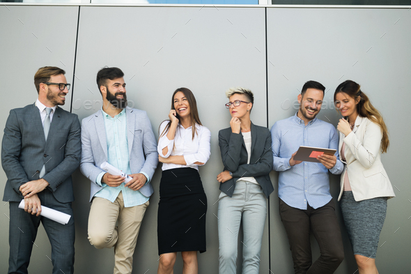 Picture of business people discussing in their company - Stock Photo - Images