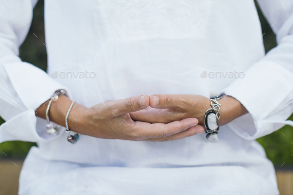 Nurturing Meditation, Positive Vibrations - Stock Photo - Images