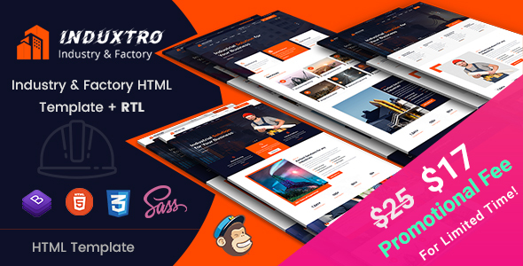 Induxtro - Industry & Factory HTML Template