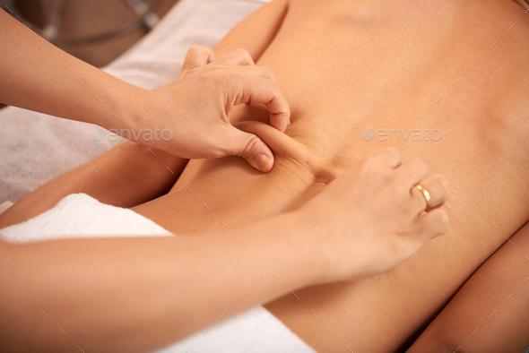 Back massage - Stock Photo - Images