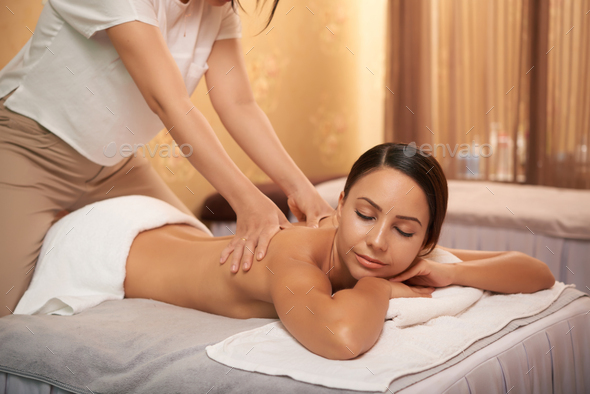 Relaxing massage - Stock Photo - Images