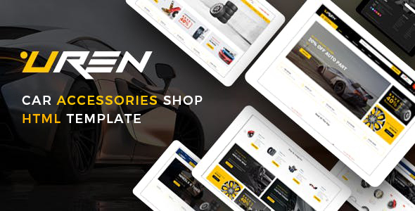 Uren - Car Accessories Shop HTML Template by HasTech