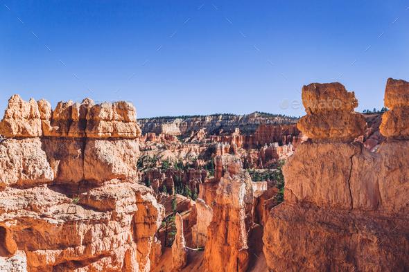 Bryce Canyon landscape, Utah, USA - Stock Photo - Images