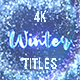Winter Snow Titles - VideoHive Item for Sale