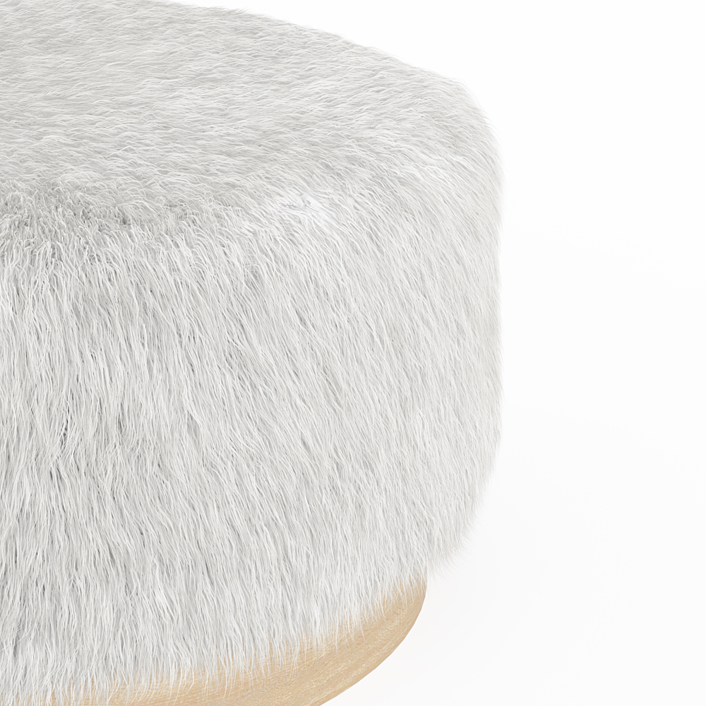 Astonishing Faux Fur Round Pouf Pdpeps Interior Chair Design Pdpepsorg