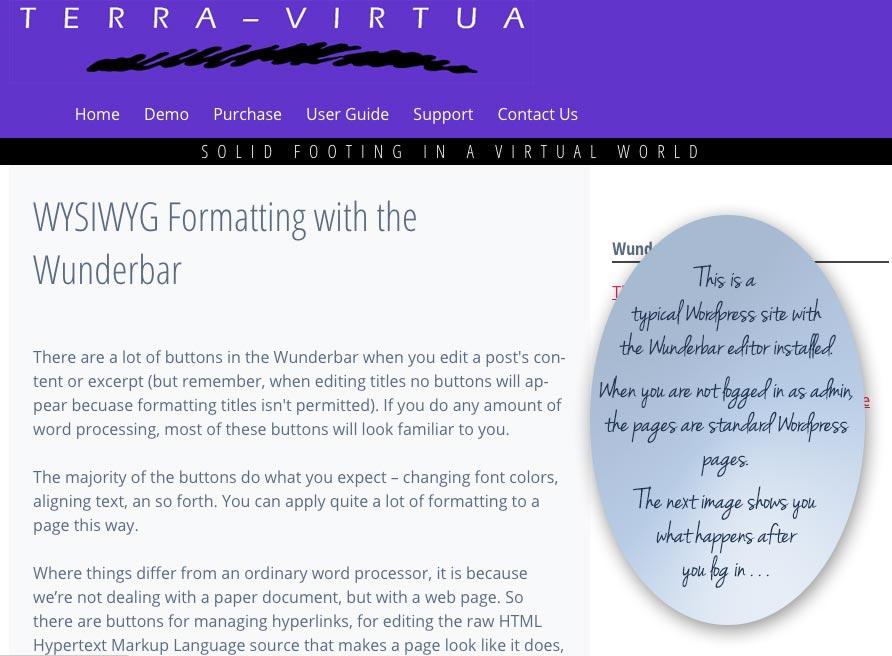 The Wunderbar WYSIWYG Front-End Editor