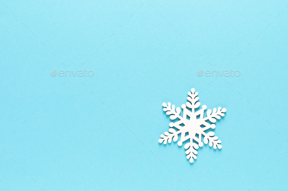 Christmas, Xmas, New Year or Noel holiday greeting card with xmas decorations, snowflake - Stock Photo - Images