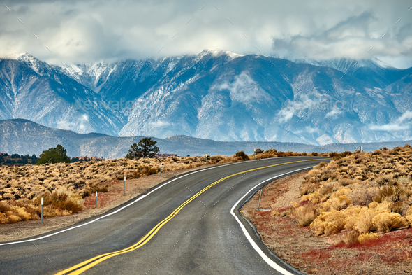 Open highway in California - Stock Photo - Images
