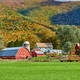 Farm with red barn and silos in Vermont - PhotoDune Item for Sale