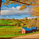 Jenne Farm with barn at sunny autumn morning - PhotoDune Item for Sale
