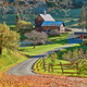 Sleepy Hollow Farm at sunny autumn day in Woodstock, Vermont, USA - PhotoDune Item for Sale