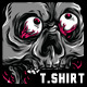 Birthday Skull T-Shirt Design