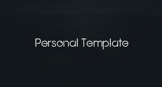 Personal Templates