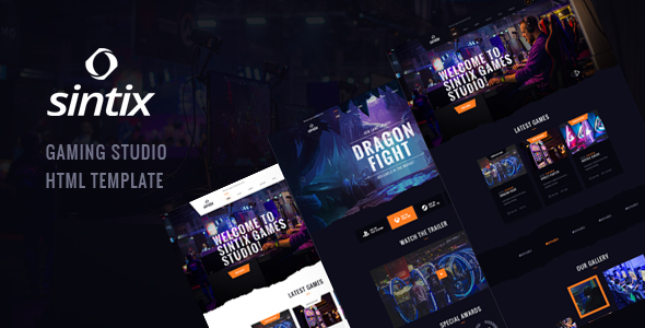 Sintix - Gaming Studio HTML Template