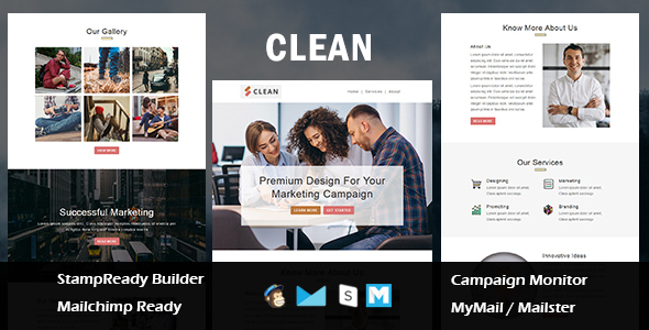 Clean - Multipurpose Responsive Email Template With Mailchimp Editor by guiwidgets