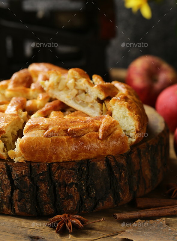 Homemade Apple Pie - Stock Photo - Images
