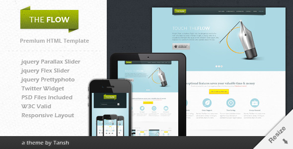 The Flow – Responsive One Page App Template