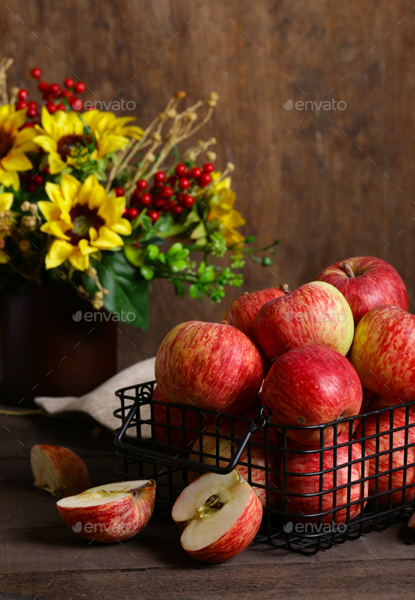 Red Ripe Organic Apples - Stock Photo - Images