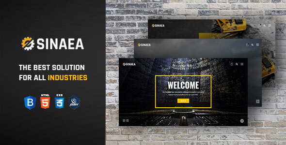 SINAEA - Factory and Industrial Business HTML5 Template + RTL by bold_touch