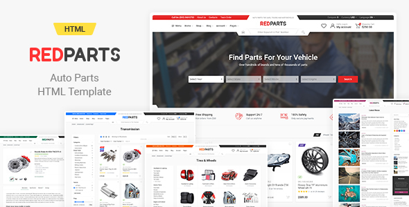RedParts - Auto Parts HTML Template by Kos9