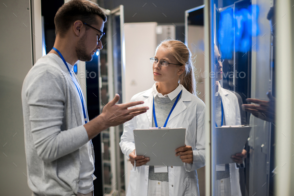 Young Computer Scientists in Data Center - Stock Photo - Images