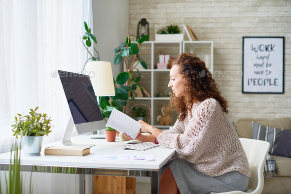 Mixed-Race Woman in Modern Office - Stock Photo - Images