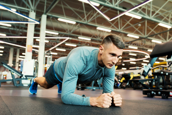 Modern Sportsman in Gym - Stock Photo - Images