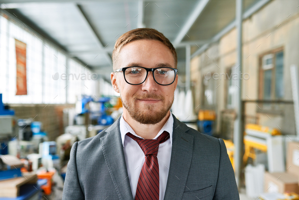 Cheerful Shop Assistant in Units Showroom - Stock Photo - Images
