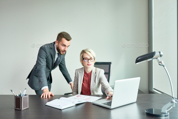 Successful Business People Working in Office - Stock Photo - Images