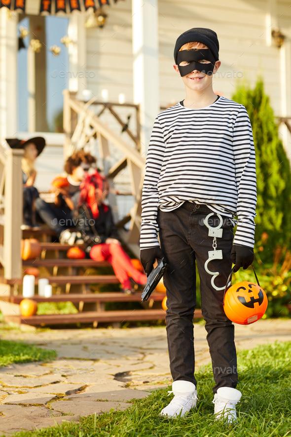 Little Bandit on Halloween - Stock Photo - Images