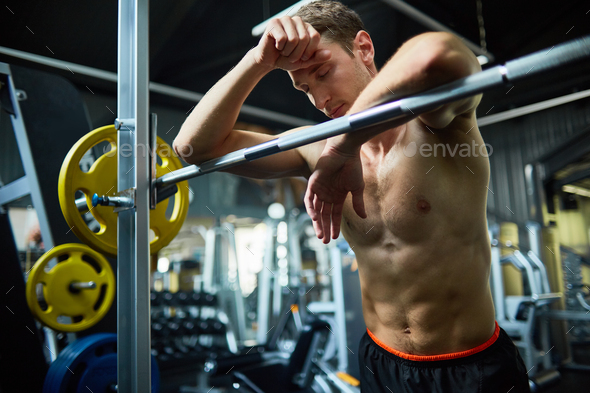Short Break from Intensive Workout - Stock Photo - Images