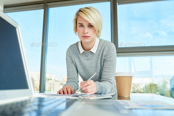 Modern Young Businesswoman - Stock Photo - Images