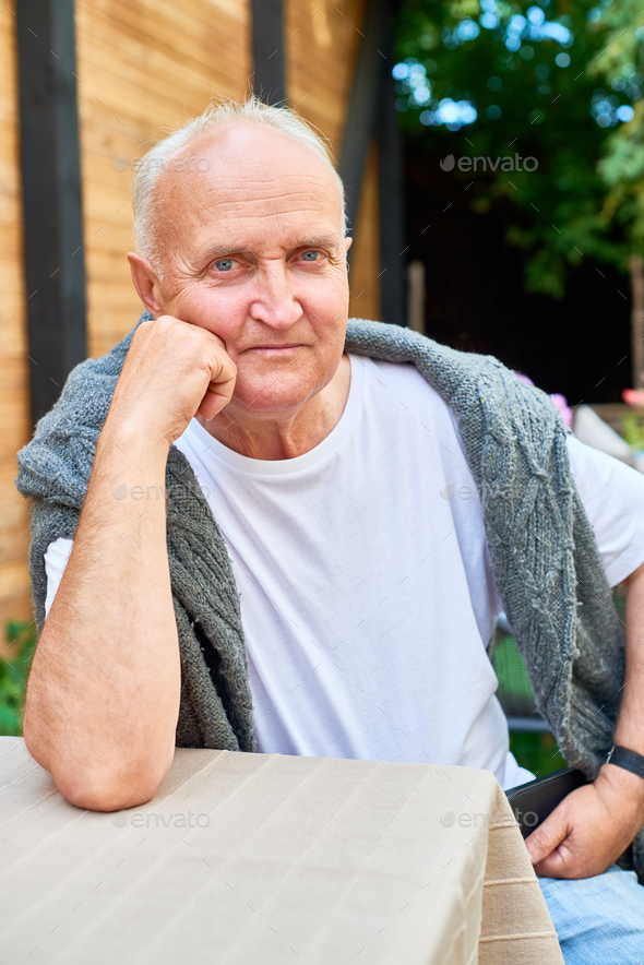 Portrait of Handsome Senior Man - Stock Photo - Images