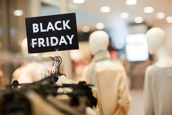 Black Friday Sale in Clothing Store - Stock Photo - Images