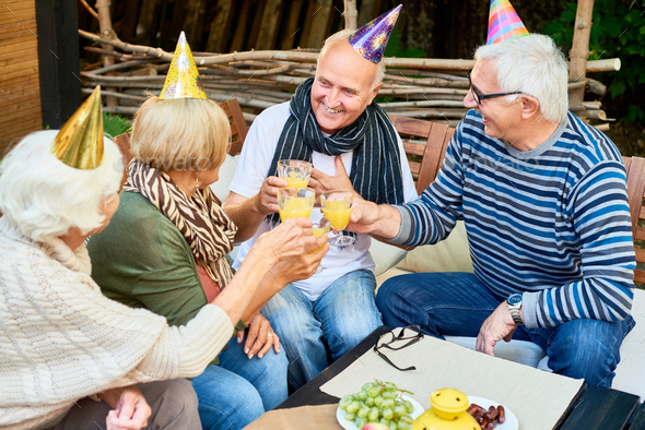 Celebrating Birthday with Friends - Stock Photo - Images