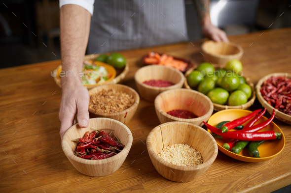 Chef Preparing Food Ingredients - Stock Photo - Images