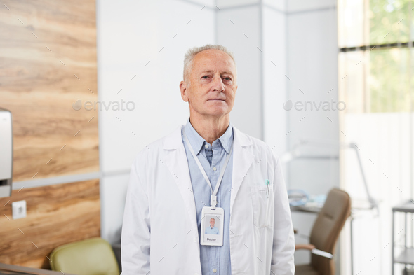 Senior Doctor in Clinic - Stock Photo - Images