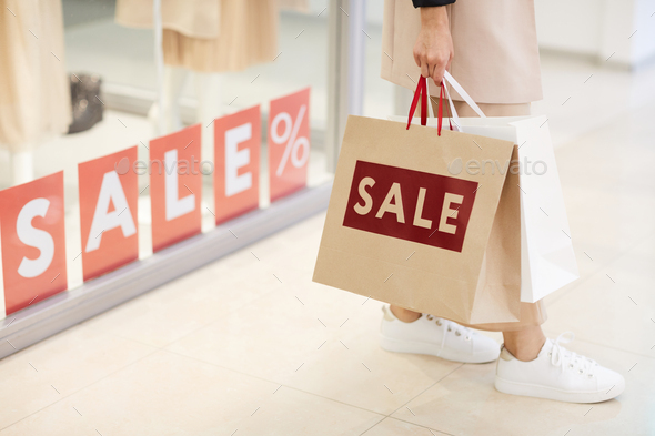 Season Sale in Shopping Mall - Stock Photo - Images