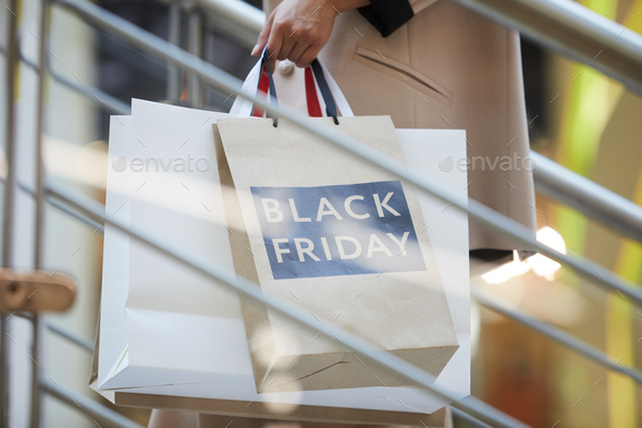 Woman Holding Shopping Bags Closeup - Stock Photo - Images