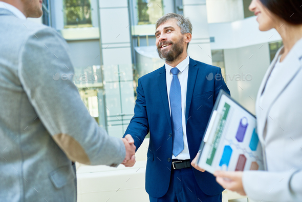 Handshake of Business Partners - Stock Photo - Images