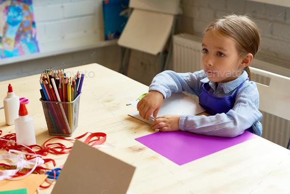 Adorable Little Girl in Development School - Stock Photo - Images