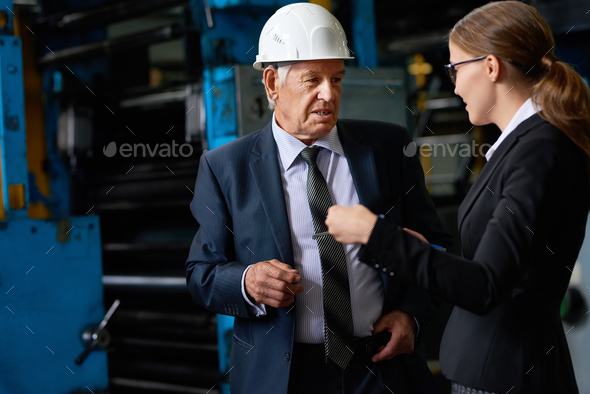 Senior Manager in Factory Workshop - Stock Photo - Images