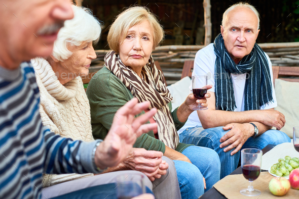 Gathering of Childhood Friends - Stock Photo - Images