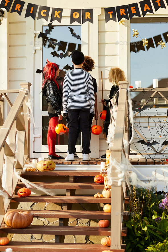 House Decorations on Halloween - Stock Photo - Images