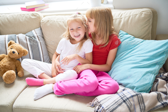 Loving Little Sisters - Stock Photo - Images