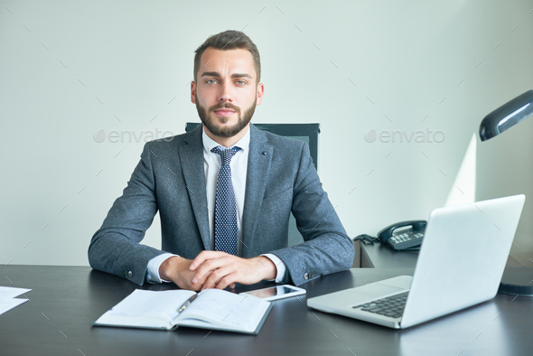 Bearded Entrepreneur Posing for Photography - Stock Photo - Images