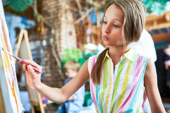 Talented Little Girl - Stock Photo - Images
