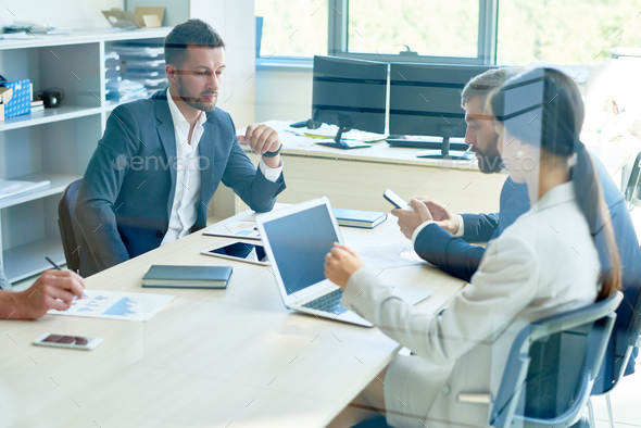 Business Team Working in Office - Stock Photo - Images